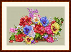 Cross Stitch Kit Garden Flowers - Merejka