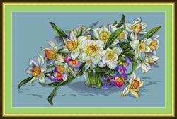 Borduurpakket Daffodils - Merejka