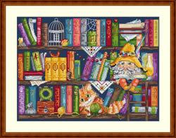 Cross Stitch Kit Book Shelf - Merejka