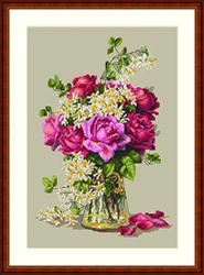Cross Stitch Kit Roses - Merejka