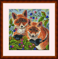 Cross Stitch Kit Foxes - Merejka