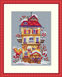 Borduurpakket Winter House - Merejka