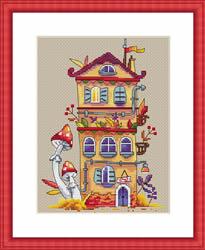 Borduurpakket Autumn House - Merejka