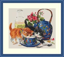 Borduurpakket Kittens & Milk - Merejka