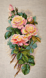Borduurpakket Vintage Roses (Aida) - Merejka