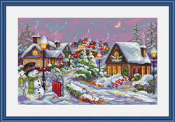 Borduurpakket Christmas Night - Merejka