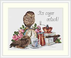 Borduurpakket It's Coffee O'Clock - Merejka