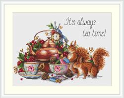 Borduurpakket It's Always Tea Time - Merejka