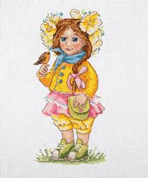 Borduurpakket Spring Girl - Merejka