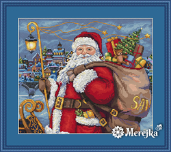 Borduurpakket Santa is Coming! - Merejka