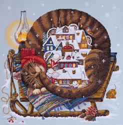 Cross stitch kit Cozy Winter - Merejka