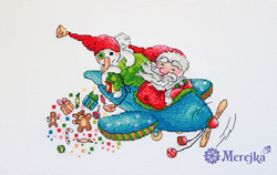 Borduurpakket Christmas Flight - Merejka