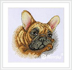 Cross stitch kit French Bulldog - Merejka
