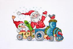 Borduurpakket Christmas Travel - Merejka