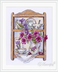 Cross stitch kit Petunias - Merejka