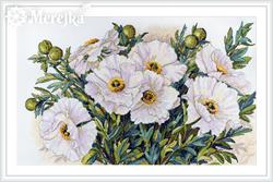 Cross stitch kit White Flowers - Merejka