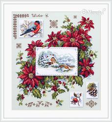 Cross stitch kit Winter Sampler - Merejka