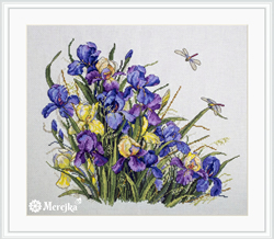 Cross stitch kit Irises - Merejka