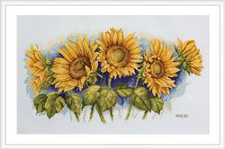 Borduurpakket Bright Sunflowers - Merejka