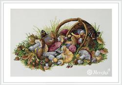 Borduurpakket Mushrooms - Merejka