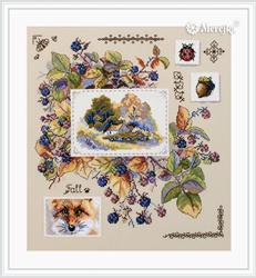 Cross stitch kit Autumn Sampler - Merejka