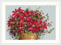 Cross stitch kit Poinsettia - Merejka