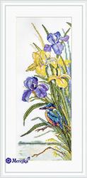 Cross stitch kit Kingfisher - Merejka