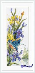 Cross stitch kit Kingfisher's Flight - Merejka