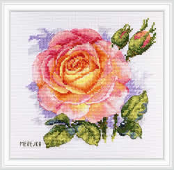 Borduurpakket Rose - Merejka