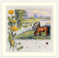 Cross stitch kit Horses - Merejka