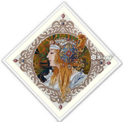 Cross stitch kit Blond by Mucha - Merejka