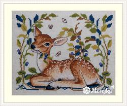Cross stitch kit Little Fawn - Merejka