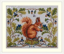 Cross stitch kit Squirrel - Merejka