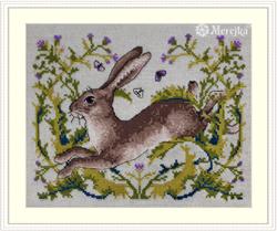 Cross stitch kit The Hare - Merejka