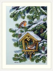 Cross stitch kit Robins - Merejka
