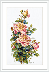Cross stitch kit Yellow Roses - Merejka