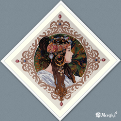 Cross stitch kit Brunette - Merejka