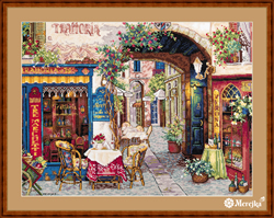 Borduurpakket Cafe in Verona - Merejka