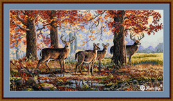 Cross stitch kit Under the Oaks - Merejka