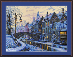 Cross stitch kit Winter Evening - Merejka