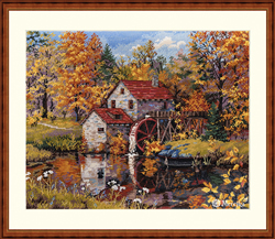 Cross stitch kit Watermill - Merejka
