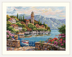 Cross stitch kit Lago di Como - Merejka