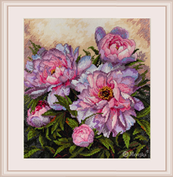 Cross stitch kit Tender Peonies - Merejka