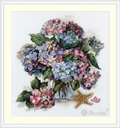 Cross stitch kit Hydrangea - Merejka