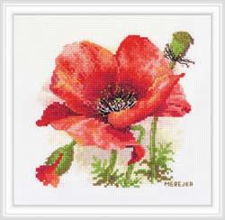 Borduurpakket Red Poppy - Merejka