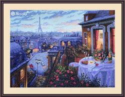 Borduurpakket Paris Evening Deja Vu - Merejka