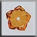 Glass Treasures 5 Petal Dim Flower-Topaz - Mill Hill