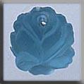 Glass Treasures Medium Rose-Matte Aqua - Mill Hill