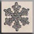 Glass Treasures Medium Snowflake-Crystal Bright - Mill Hill