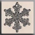 Glass Treasures Large Snowflake-Crystal Bright - Mill Hill